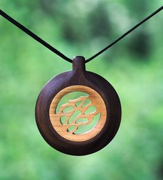 Wood pendant, Wood necklace, Necklaces, Pendants, Wood jewelry – Annabell Wood pendant Wood n. Laser Cut Jewelry, Wood Turning Projects, Wood Resin, Wood Necklace, Simple Jewelry, Jewelry Ideas, Jewelry Design, Woodworking Projects Diy, Diy Jewelry Making