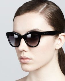 Cat-Eye Sunglasses, Black