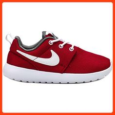 d342e09489ae64 Amazon.com | Nike Toddlers Rosherun (Infant /Toddler) Running Shoe ~ Roshe  ~ Gym Red/White/Dark Grey (10) | Sneakers