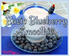 Sweet n simple-- this is a classic. #FatFlush Blueberry Smoothie recipe