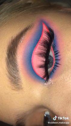 Disney Eye Makeup, Rave Makeup, Edgy Makeup, Baddie Makeup, Dark Skin Makeup, Eye Makeup Art, Eyeshadow Makeup, Creative Eye Makeup, Colorful Eye Makeup