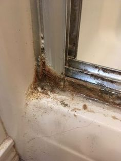 Mine aren't this icky! ~~ How To Clean Shower Door Tracks | My Real Life At Home