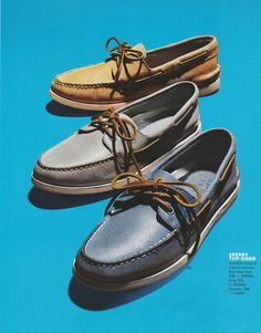 blue and brown sperrys