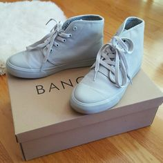 aa5a9845a0fd BANGS Shoes High Top Sneakers US M 4.5 W 6 Light gray high top sneakers