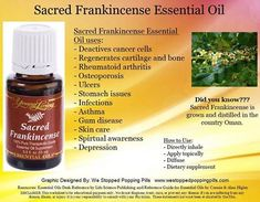 Sacred Frankincense Oil uses