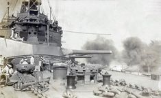 HMS Agamemnon, bombarding the Dardanelles Straits: Gallipoli campaign Part I: the Naval Bombardment, March 1915 in the First World War