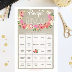 Make this shower amazing - starting with this beautiful game. Ladies of all ages love playing Bridal Bingo! Bridal Shower Bingo, Bridal Bingo, Wedding Shower Games, Bingo Sheets, Price Is Right Games, Bingo Games, Wedding Decorations, Gifts, Unique