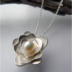 Peony Sterling Silver Pendant