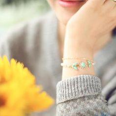 Pendant Layered Bracelet from #YesStyle <3 kitsch island YesStyle.com