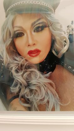 Me in drag Halloween Face Makeup, Asian, Queen, Character, Lettering