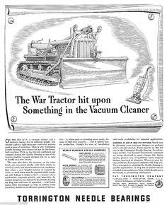"1943 Ad TORRINGTON Needle Bearings War Tractor Art Print Ad 10""x13"" WW2 | eBay"