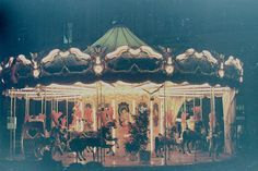 ... riding the carousel at the fair ...