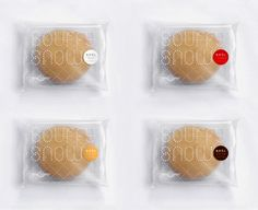 Packaging of the World: Creative Package Design Archive and Gallery: Buffy's Bakery Dessert Packaging, Bakery Packaging, Cookie Packaging, Plastic Packaging, Cute Packaging, Brand Packaging, Packaging Ideas, Flan, Graphic Projects