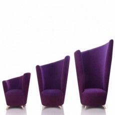 This is the Love Curve Chair by Grafu Baldai in a stunnding purple, available in 3 heights. Tub Chair, Floor Chair, Small Tub, Small Accent Chairs, Solid Pine, Contemporary Furniture, Upholstery, Cushions, Lounge