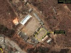 North Korea tension: Volleyball spotted in nuclear test site