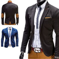 G.B.D. Herren Sakko Anzug Blazer Sweatjacke Jacke Mantel Freizeit Schwarz/Navy in Kleidung & Accessoires, Herrenmode, Jacken & Mäntel | eBay