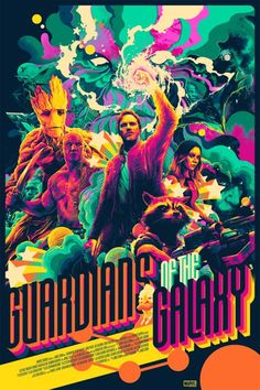 Guardians of the Galaxy Poster - Created by Matt Taylor