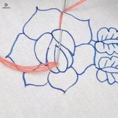 Diy Embroidery Flowers, Simple Embroidery Designs, Etsy Embroidery, Hand Embroidery Videos, Embroidery Stitches Tutorial, Embroidery Patterns Free, Machine Embroidery Designs, Cushion Embroidery, Embroidery On Kurtis