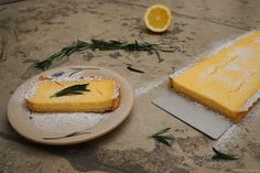 MN: lemon cake with  rosemary - I like it