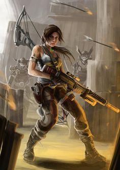 Lara Croft by PeterPrime on deviantART