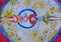#aquarell #aquarelle #watercolorpainting #watercolor #watercolorart #illustration #bestfrends #nature #flowers # blue #green #girls #sleeping #illustration #circle #zen #peace Watercolor Illustration, Watercolor Paintings, Best Frends, Illustrations, Holiday Decor, Instagram Posts, Watercolour Paintings, Watercolour Illustration, Watercolor Drawing