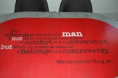 Martin Luther King inspired table for the United Methodist Children's Home through Room Service Atlanta.