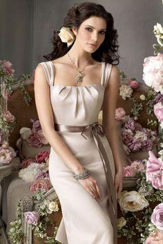 bridesmaid dresses/Quadrat Etui Reißverschluss gekappte Ärmel Schärpe knielanges ärmelloses Brautjungfernkleid