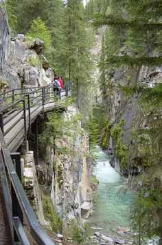 Johnson Canyon, near Banff, Alberta....spent the night in a sweet little cabin and it was so awesome