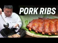 Did you know you can just get the perfect smoked pork ribs out of a wok? From braising to smoking, all in one wok. In this video Chef John demonstrates this . Pork Rib Recipes, Chef Recipes, Asian Recipes, Cooking Recipes, Chinese Recipes, Cooking Videos, Easy Recipes, Smoked Pork Ribs, Braised Pork Belly