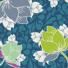 spellbound teal wallpaper by patricia bravo for art gallery fabrics sp-5608