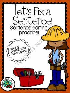 Lets Fix a Sentence from School Bells N' Whistles on TeachersNotebook.com -  (20 pages)  - 20 pages of sentence editing practice. Large lines for early readers.