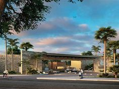 Allegranza Residencial Playa del Carmen Mexico Address and Map Entrance Design, Entrance Gates, Gate Design, Architecture Concept Drawings, Landscape Architecture, Architecture Design, Quintana Roo Mexico, Boundary Walls, Industrial Park