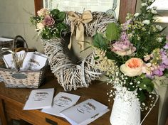 Posy Barn church hall table flowers
