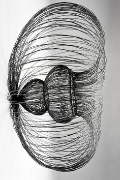 Side view 'Concave Wire Wall Hanging' by British designer & artist Joanne Bowles. via British European Design Group Directory Origami Flowers Tutorial, Weaving Art, Land Art, Wire Art, Art Techniques, Installation Art, Art Blog, Design Crafts, Metal Art