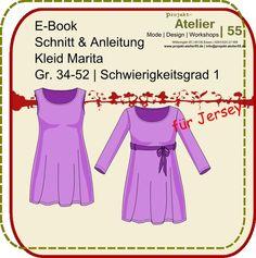 E-Book| Jerseykleid Marita | Schnitt/Anleitung  von projekt-atelier55 auf DaWanda.com