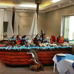 Barco Tema Fundo do Mar, mesa de  Guloseimas by Alquimia Festas
