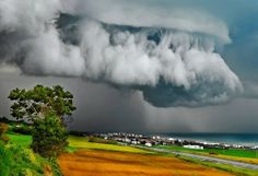 Supercell Thunderstorm over Ancona, Italy. These storms can produce violent tornadoes and several tornado events at once. The secret of the ability of a supercell thunderstorm to produce a tornado is in the updraft. All Nature, Science And Nature, Amazing Nature, Amazing India, Weather Cloud, Wild Weather, Storm Clouds, Sky And Clouds, Rain Storm