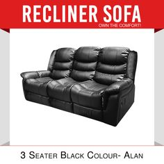 Recliner Black Entertainment Living Room Lounge Modern Multi Positions Alan in Home & Garden, Furniture, Sofas & Couches Cheap Sofa Sets, Black Lounge, Modern Recliner, Living Room Lounge, Jan 2018, Reclining Sofa, Melbourne, Mattress, Positivity