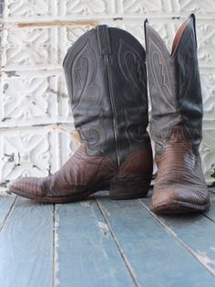 Cotton Mouth (M 10 1/2) Used Cowboy Boots for BourbonandBoots.com - great men footwear!