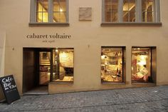 Exterior of Cabaret Voltaire as it looks today, in West Zurich's old town.