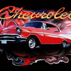 RED CHEVY Framed Prints, Canvas Prints, Student Discounts, Long Hoodie, Laptop Sleeves, Wall Tapestry, Decorative Throw Pillows, Chevy, Classic T Shirts