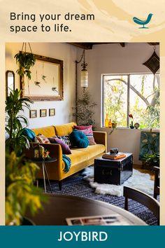 Eclectic Living Room, Boho Living Room, Home And Living, Living Room Designs, Living Room Decor, Bedroom Decor, Tulum, Interiores Design, Apartment Living