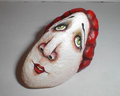 painted rock/ do their face!