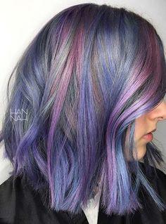 Image result for platinum blue purple pink hair blend