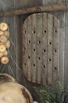 Primitive Early Look Wooden Drain Board Riser Drying Rack | eBay