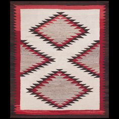 #antique #Navajo #rug. Stock Id: #21705 General Rug Type:      American Specific Rug Type:      Navajo Circa: 1940 Color: Ivory Origin: USA Width: 3' 0'' ( 91.4 cm ) Length: 3' 9'' ( 114.3 cm )