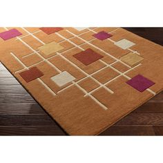 "Zipcode Design Dean Hand-Tufted Brown/Neutral Area Rug Rug Size: 7'6"" x 9'6"""