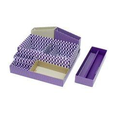 Multi Desk top DIY mini storage box in box - violet (http://www.fallindesign.com/multi-desk-top-diy-mini-storage-box-in-box-violet/)