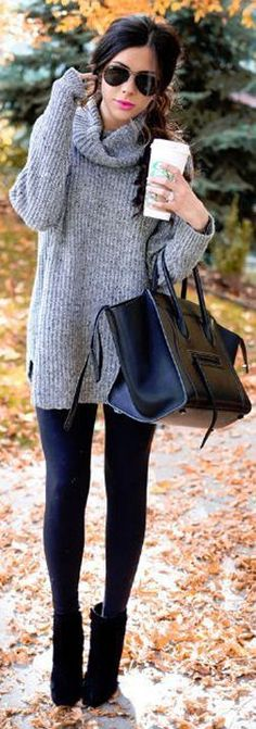 Over-sized Sweater + Leggings ❤︎