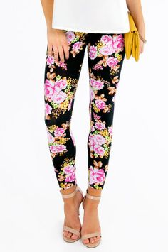 Floral Leggings $21 at www.tobi.com